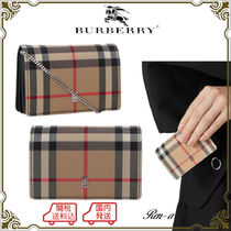 ★Burberry★チェーンス付 ヴィンテージチェック カードケース