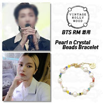 BTS RM★Vintage Hollywood★Pearl n Crystal Beads Bracelet