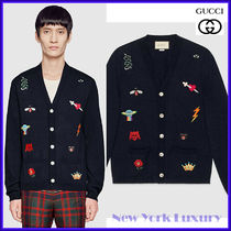 GUCCI★素敵!Embroidered wool knit cardigan
