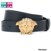 大人もOK/関税込VERSACE KIDS Medusa leather belt 499470