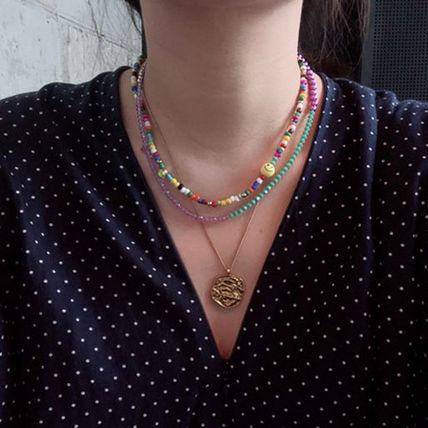 VINTAGE HOLLYWOOD ネックレス・チョーカー BTS V着用★日本未入荷 ネックレス Color Spread Beads Necklace(5)