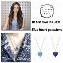 BLACK PINKジス★Vintage Hollywood★Blue Heart gemstone