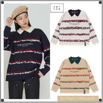 ROMANTIC CROWNのCOLOR WAVE KNITTED POLO SHIRTS 全3色