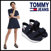 ★TOMMY JEANS★ladies ロゴ スリング 厚底サンダル
