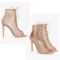 Gianvito RossiメッシュレースアップブーティーHELENA BOOTIE