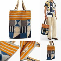 GUANABANA(グアナバナ) トートバッグ [GUANABANA] Liam abstract woven tote bag (送料関税込み)
