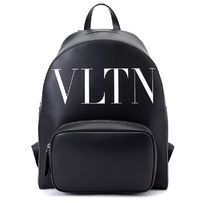 VALENTINO★VLTN logo leather backpack black(関税込EMS謝恩品)