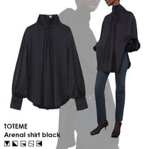 【AW20-21/完売必須/日本未入荷】TOTEME Arenal  シャツブラック