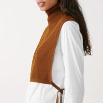 """""""COS"""" SHEER KNITTED TUNIC BROWN"""