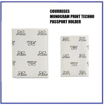 [COURREGES] MONOGRAM TECHNO PASSPORT HOLDER (送料関税込み)