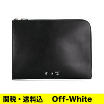 OFF-WHITE ロゴ クラッチバッグ