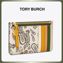 【TORY BURCH】ペイズリー♪PERRY PRINTED Top-Zip CARD CASE