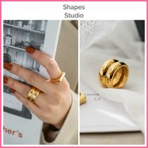 NY発!! ◆Shapes Studio◆ THE WIDE DOUBLE BAND RING
