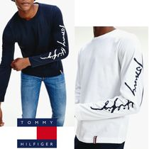 Tommy Hilfiger(トミーヒルフィガー) Tシャツ・カットソー 関送料無料!【Tommy Hilfiger】袖ロゴ ロングTシャツ *国内発送