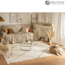 DECO VIEW★ Big Diamond Tassel Soft Rug - 150 X 100