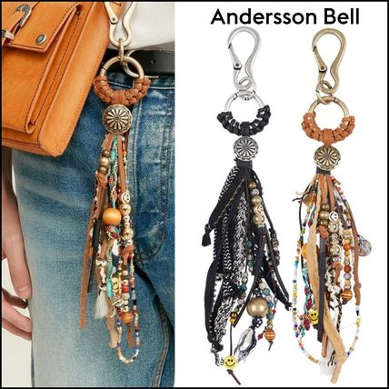 ANDERSSON BELL★EOLITHIC LEATHER RING KEY CHAIN aaa252m