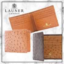 ◆Launer 20SS 最新作◆OSTRICH EIGHT CREDIT WALLET◆2色展開