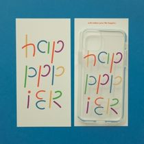 ★oh lolly day★ Rainbow happpier iPhone クリアケース