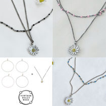 ★VINTAGE HOLLYWOOD★DOT SEED NECKLACE + DAISY NECKLACE_4色