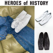 [HEROES of HISTORY] Square Toe Lace-up Flat ローパー