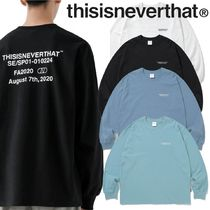 ★thisisneverthat★CP-Logo L/SL Top 4色