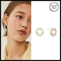 ◆VINTAGE HOLLYWOOD◆ HAPPY SMILE POST EARRING ピアス 可愛い