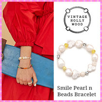 【VINTAGE HOLLYWOOD】Smile Pearl n Beads Bracelet