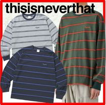 ★韓国の人気★thisisneverthat★Striped L/SL Top★