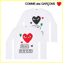 COMME des GARCONS メンズ 4ハート プリント 長袖 Tシャツ