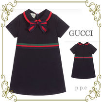GUCCI☆Navy Blue Cotton Baby Dress /関送込