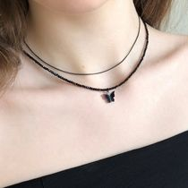 韓国大人気★FANTASTIC PLANET★black butterfly necklace