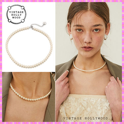 【VINTAGE HOLLYWOOD】Classic Pearl Necklace~ネックレス