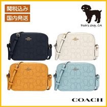 【COACH】Mini Camera Bag In Signature Leather◆国内発送◆