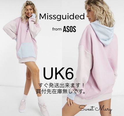 ASOS/Missguided・ロゴ パステルカラーパーカーワンピ♪送料込