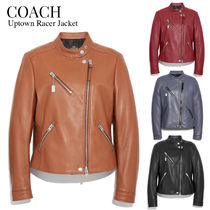 COACH★Uptown Racer Jacket コーチ クール レザー ジャケット