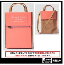 226【Acne】BAKER OUT Small トートバッグ ブラウン ピンク