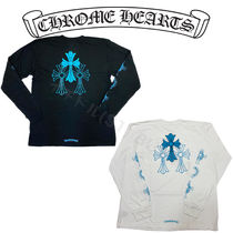 Chrome Heartsクロムハーツ Blue Cross Long Sleeve Tee ロンT