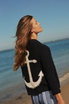 Anthropologieオリジナル☆ Anchors Away! Cable-Knit Cardigan