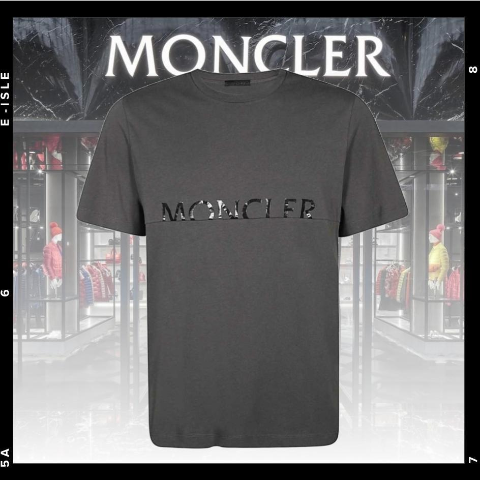 【MONCLER】レタリングロゴ Tシャツ (MONCLER/Tシャツ・カットソー) 8C7A7.10