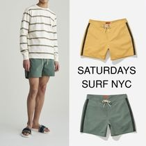 《SATURDAYS SURF NYC》Colin Solid Logo Tape * Boardshort