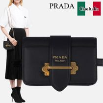 PRADA CAHIER BELT BAG IN CITY AND SAFFIANO LEATHER
