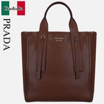 PRADA  GRACE LUX LEATHER TOTE BAG