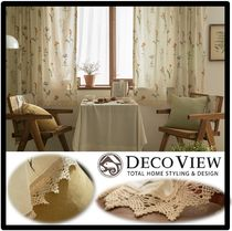 関税込★DECOVIEW★Margaret Flower Lace Small Window Curtain
