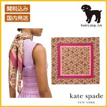 【Kate Spade】cherries stripe square scarf◆国内発送◆
