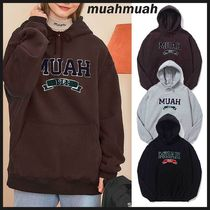 ◆MUAHMUAH◆ 20FW BOUCLE LINE NAPPING HOODIE (3色) 両面起毛