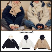◆MUAHMUAH◆ TWOTONE COMBI FLEECE JACKET フリースジャケット