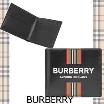 ★BURBERRY★ ICON STRIPE LOGO BILLFOLD WALLET ロゴデザイン♪