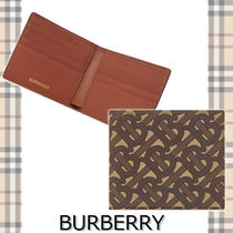 ★BURBERRY★TB MONOGRAM BILLFOLD WALLET ロゴがおしゃれ♪