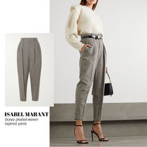 [ISABEL MARANT] Oceyo pleated woven tapered pants 送料関税込