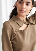 & Other Stories☆Knitted Cut-Out Collar Top